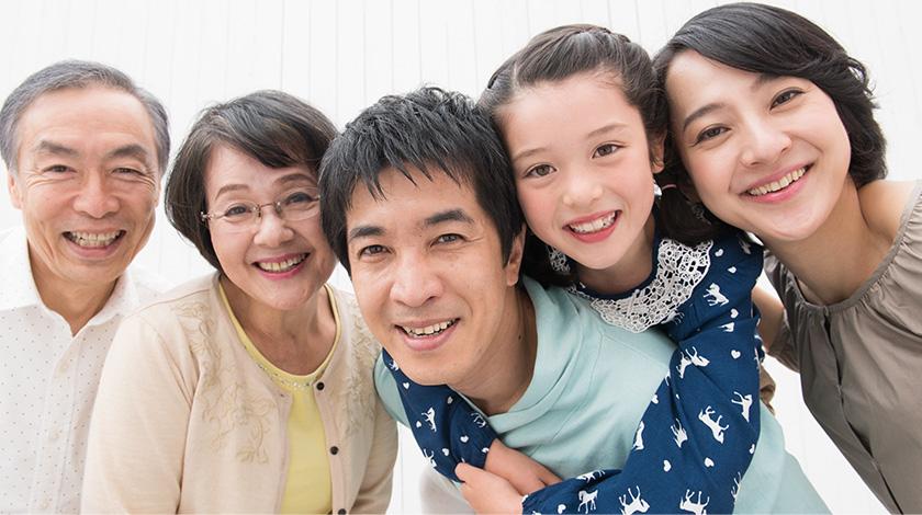 家族の喜ぶ姿